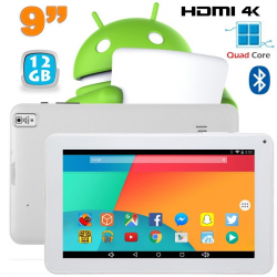 Tablette 9 pouces Android 6.0 Tactile HDMI 4K 1,5GHz 1Go RAM 12Go