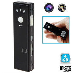 Mini camera espion appareil photo video chewing gum Micro SD USB 4 Go