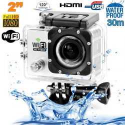 Camera sport wifi étanche caisson waterproof 12 MP Full HD Blanc - www.yonis-shop.com