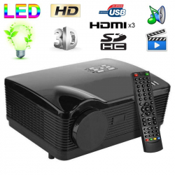Vidéoprojecteur Full HD 1080P LED 3000 lumens TV 3D HDMI 120W USB SD