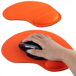 Tapis de souris repose poignet de qualité ergonomique ultra fin Orange - www.yonis-shop.com
