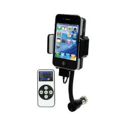 Transmetteur FM iPhone 4 4S 3G 3GS iPod support télécommande