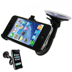 Support ventouse flexible pour iPhone 4 4S voiture holder auto - www.yonis-shop.com