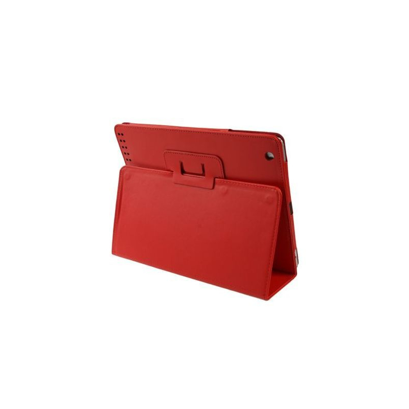 Housse new ipad 4 retina tui cuir rouge 9 7 pouces for Housse ipad 4