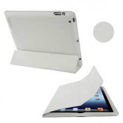 Smart cover integrale new iPad 3 blanc quadrillé