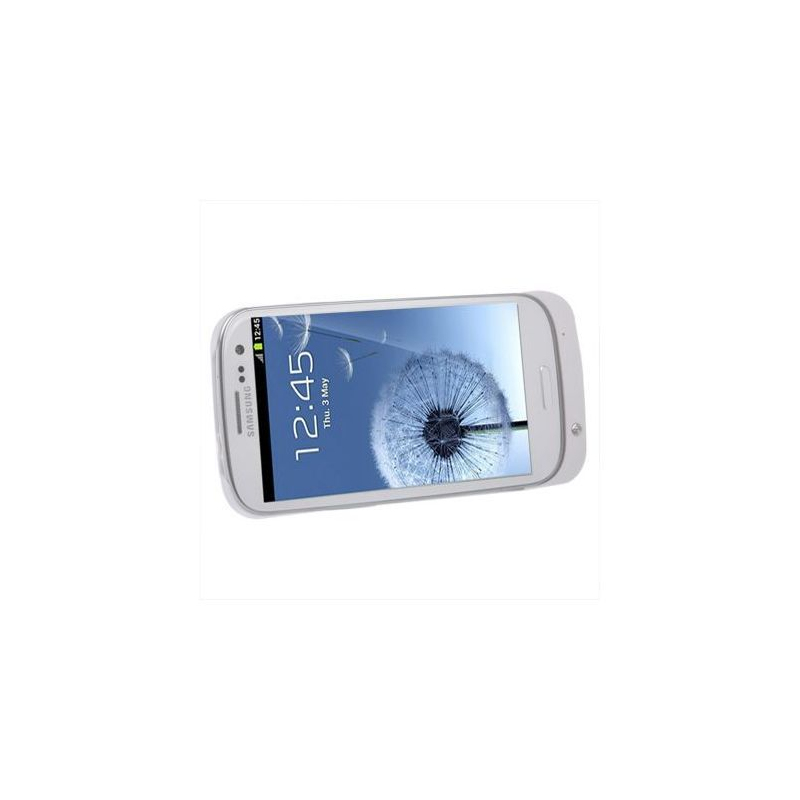 batterie coque samsung galaxy s3 i9300 chargeur 2800 mah blanc. Black Bedroom Furniture Sets. Home Design Ideas