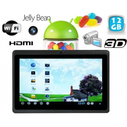 Tablette tactile Android 4.1 Jelly Bean 7 pouces HDMI 12 Go Noir - www.yonis-shop.com