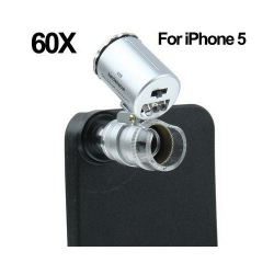 Microscope pour iPhone 5 zoom 60X LED UV - www.yonis-shop.com