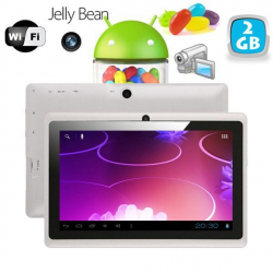 Tablette tactile Android 4.1 Jelly Bean 7 pouces capacitif 3D Blanc