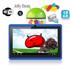 Tablette tactile Android 4.1 Jelly Bean 7 pouces capacitif 18 Go Bleu